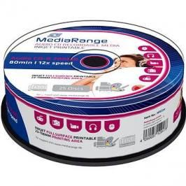 MediaRange CD-R Audio Inkjet Fullsurface Printable 25ks cakebox